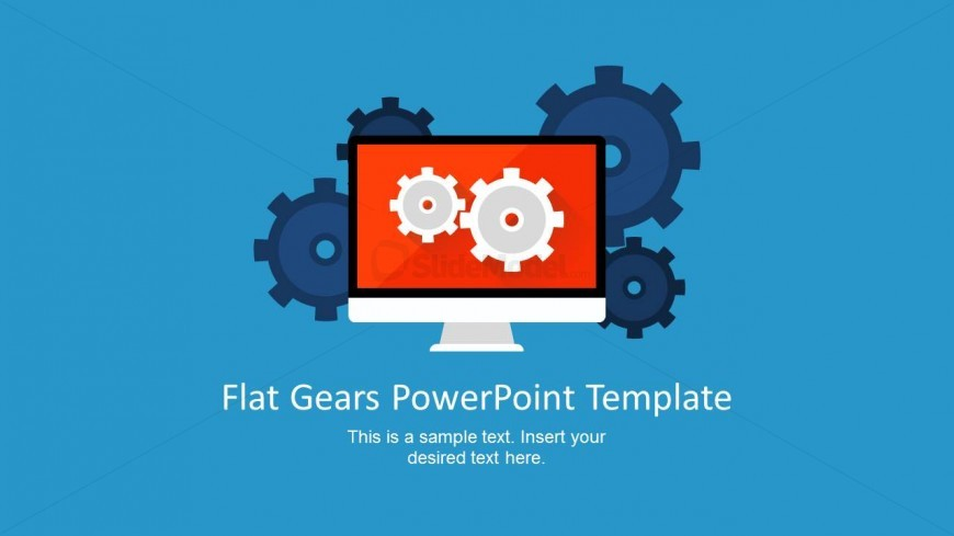 Display Shape For Powerpoint With Gears Slidemodel