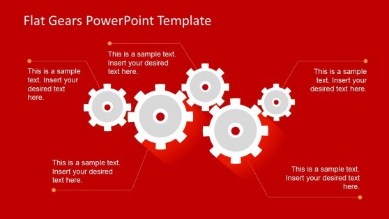 4 Gear Shapes for PowerPoint Slides
