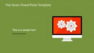Mac Monitor Display Shape for PowerPoint with Gears