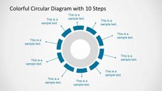 10 Elements Circular Diagram Design for PowerPoint