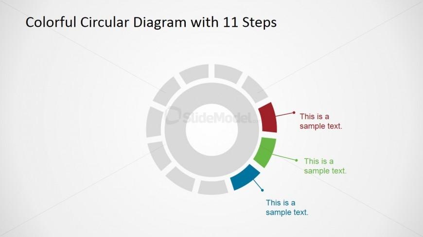 Circular Diagram  Steps Description