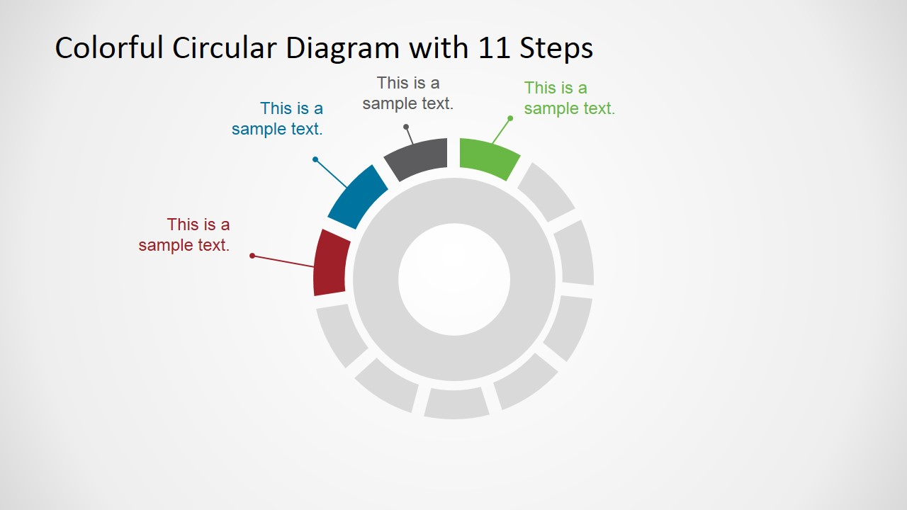 11 Steps Circular Process Diagram