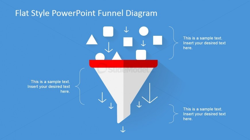 Flat Design of PowerPoint Funnel Chart