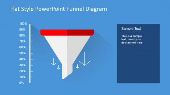 Funnel Chart Flat Design PowerPoint Diagram
