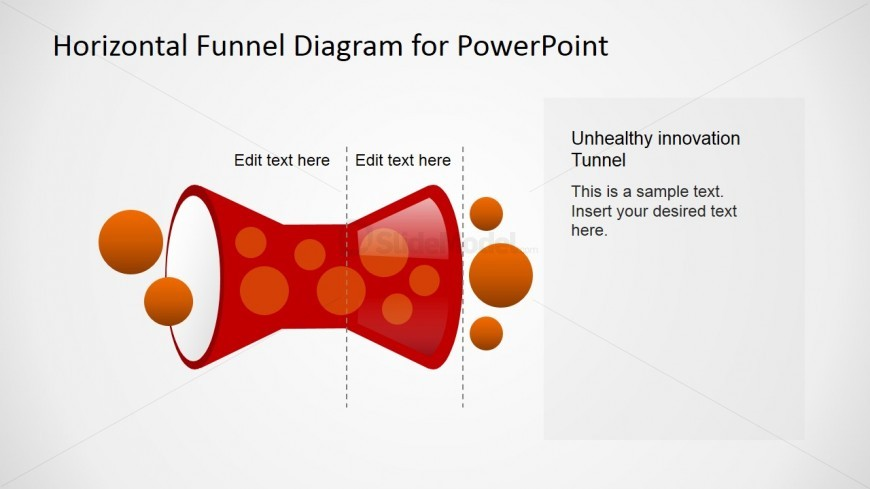 Flat Design Horizontal Unhealthy Funnel Diagram