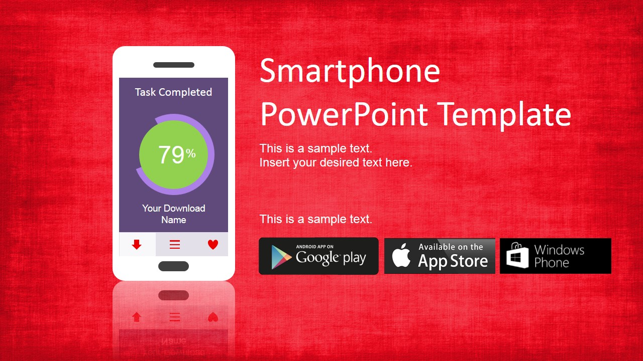 Smartphone powerpoint template slidemodel smartphone templates with apps store icons toneelgroepblik Image collections
