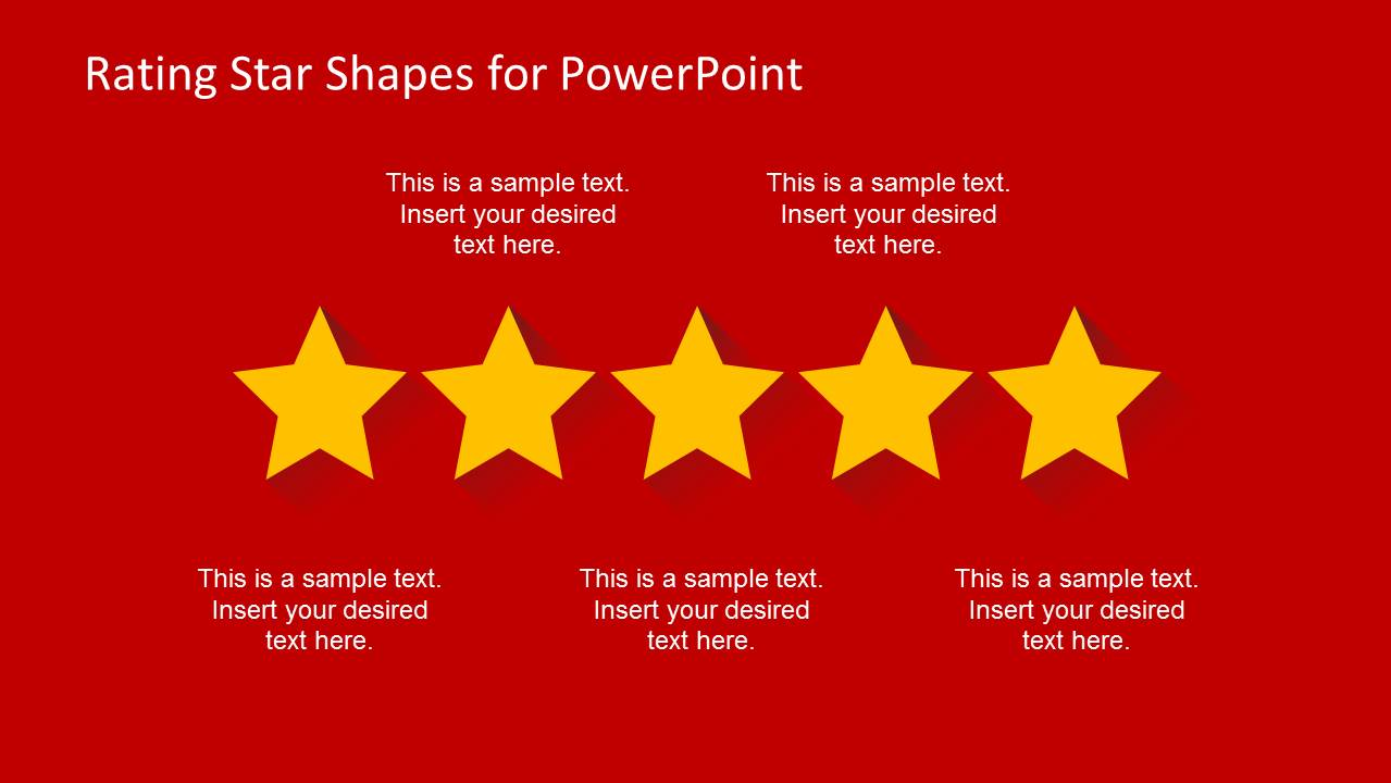 rating star shapes for powerpoint