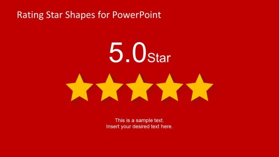 5 Stars Slide Design for PowerPoint