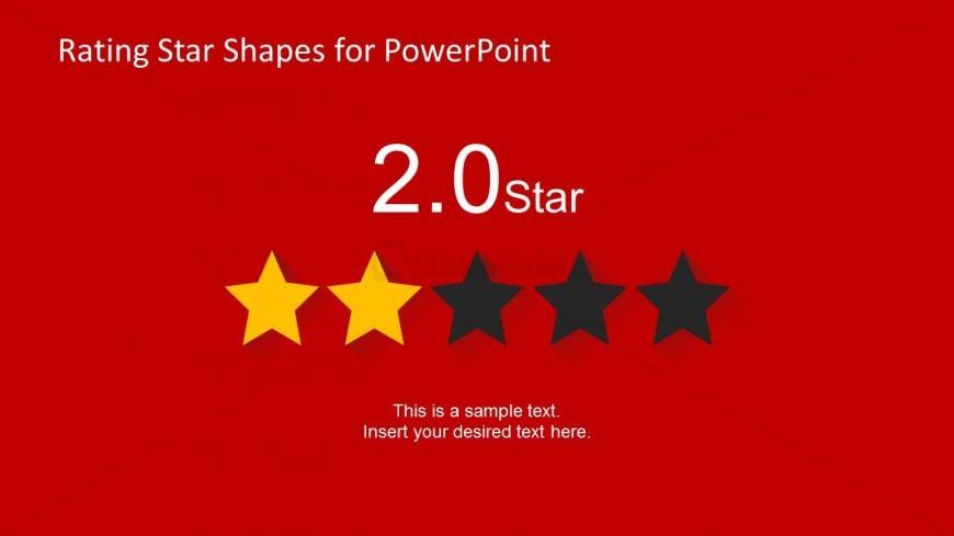 2 Stars Slide Design for PowerPoint