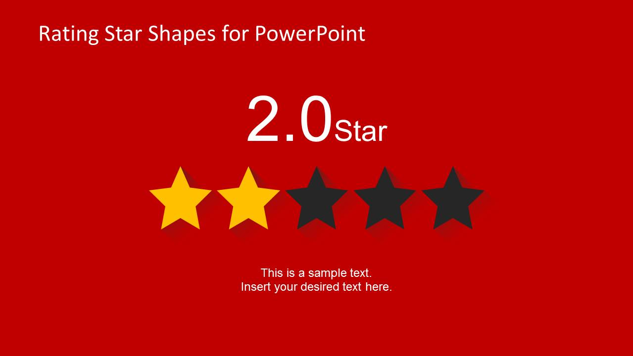 2 Stars Slide Design for PowerPoint
