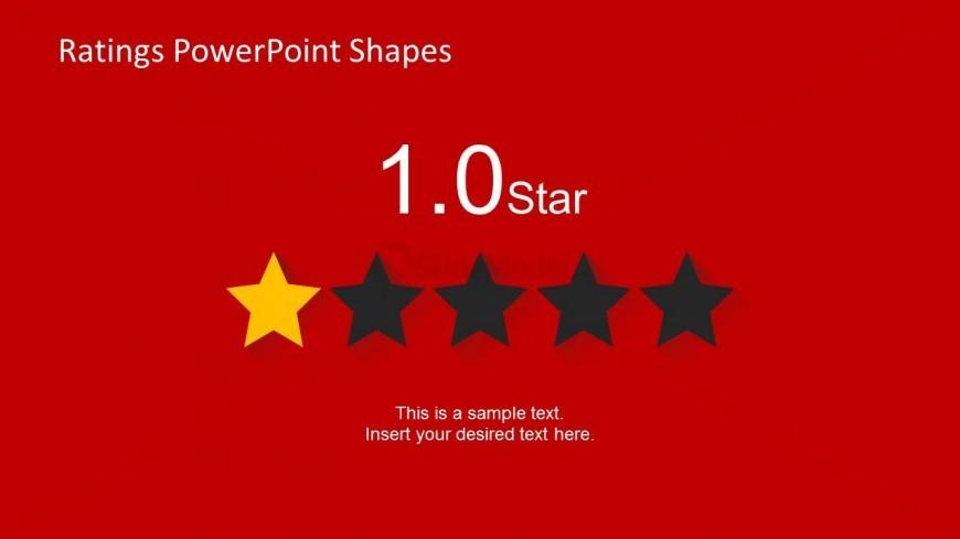 1 Star Slide Design for PowerPoint