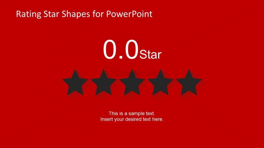 Black Star Shapes for PowerPoint - No Rating