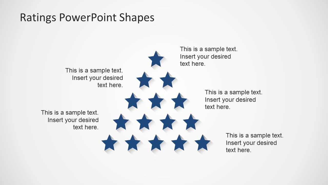 Pyramid Rating Star PowerPoint Slide Design