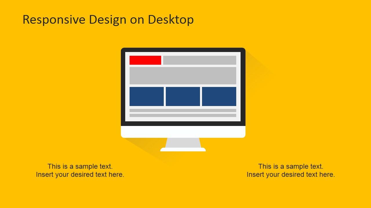 Desktop PowerPoint Slide Design Responsive Devices Clipart