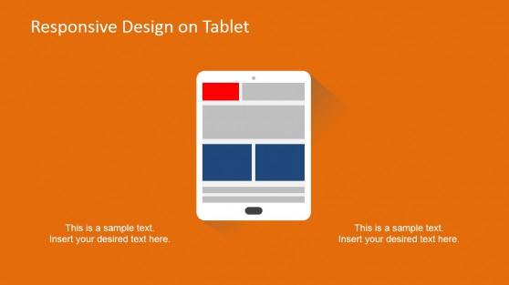 Tablet Responsive Devices Clipart Slide Design