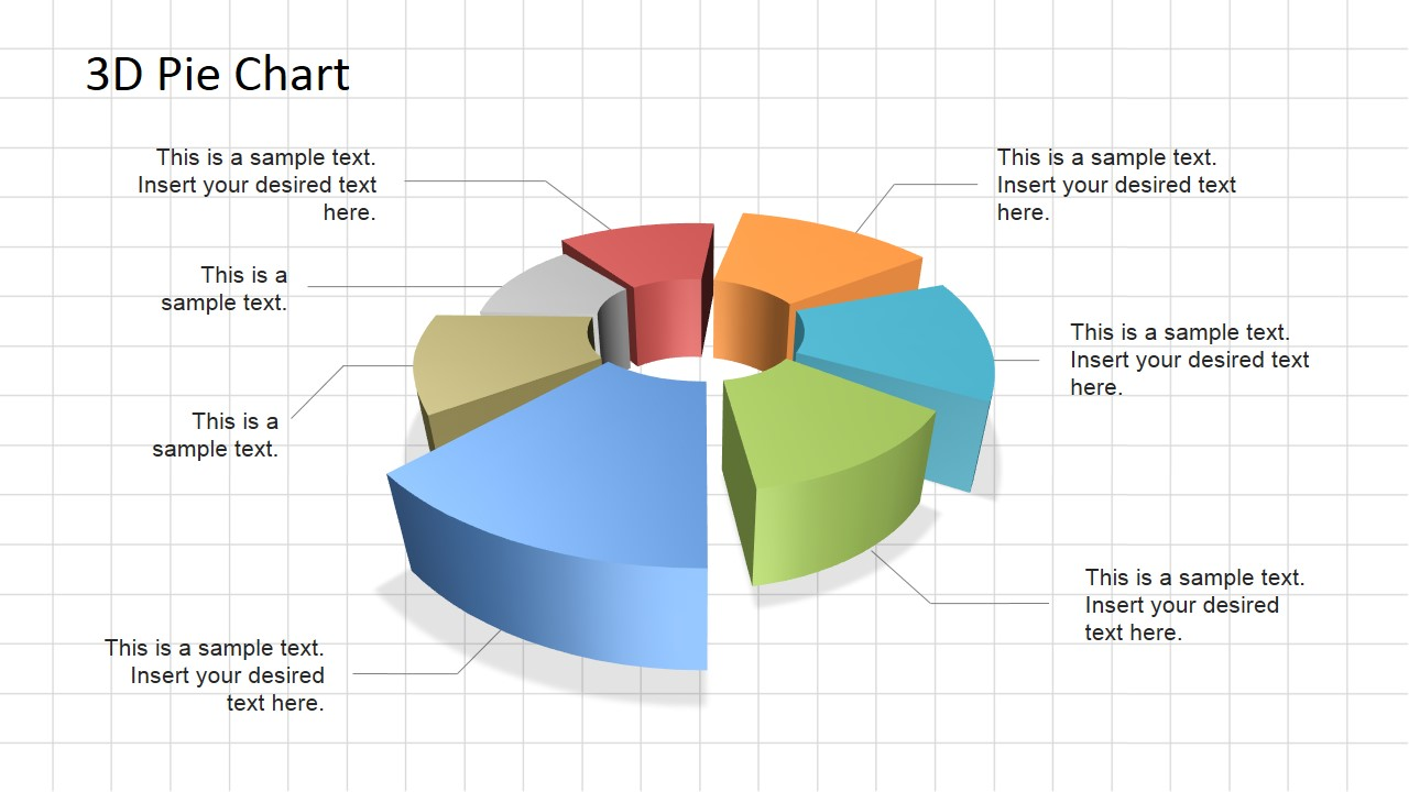 3d pie chart diagram for powerpoint slidemodel