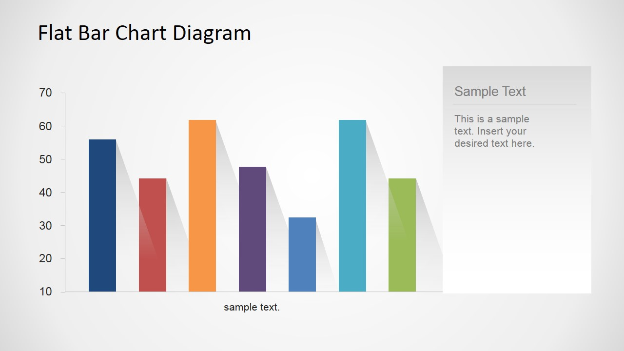 Flat bar chart diagram for powerpoint slidemodel bar chart flat design with shadows ccuart Images