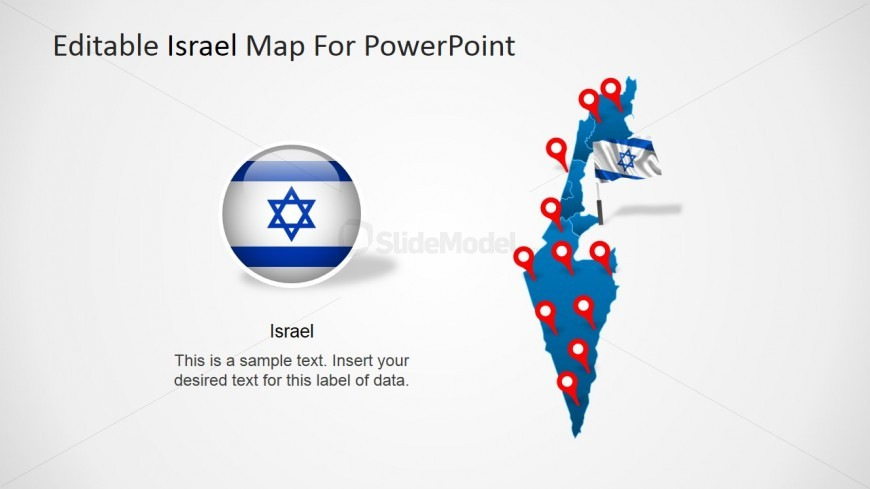 PowerPoint Map of Israel