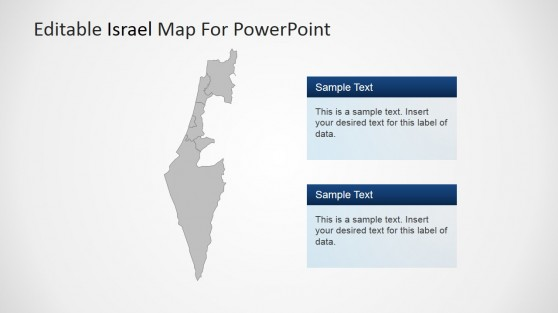 Editable Israel Map for PowerPoint
