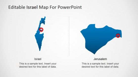 Jerusalem State Highlight Israel Map