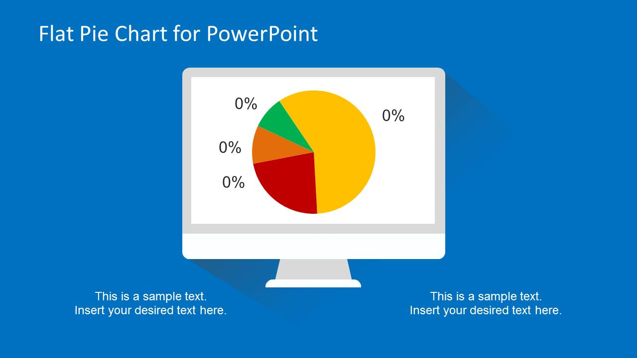 Computer Flat Pie Chart Slide Design for PowerPoint