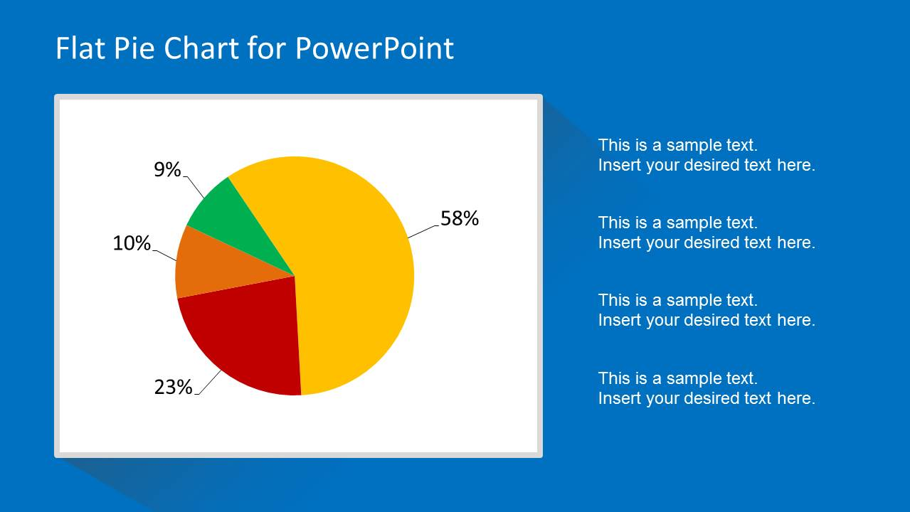 Flat Pie Chart Template for PowerPoint