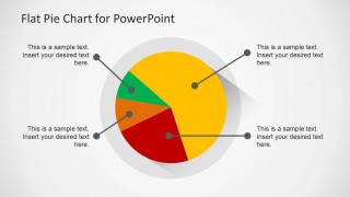 Example of Pie Chart Design for PowerPoint with Flat Style