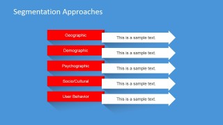 PowerPoint Slide with Segmentation Alternatives