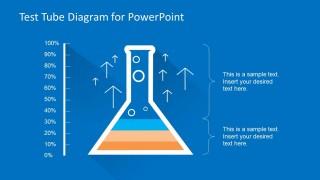 Test Tube Diagram Chart for PowerPoint