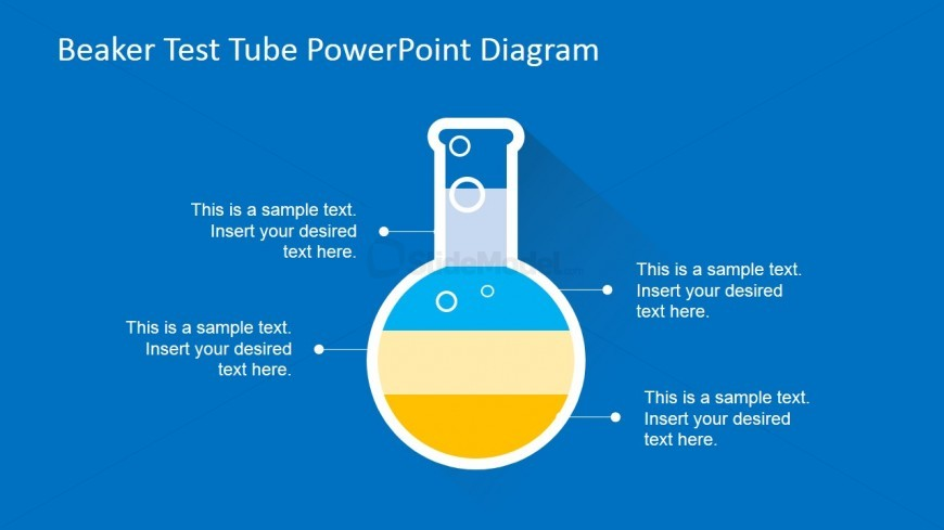 Professional Test Tube PowerPoint Diagram