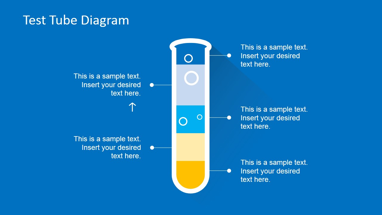 Flat Test Tube Infographic Powerpoint Diagram