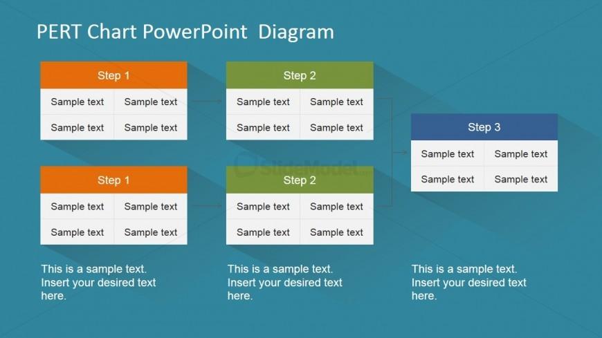 PowerPoint PERT Chart 5 Nodes