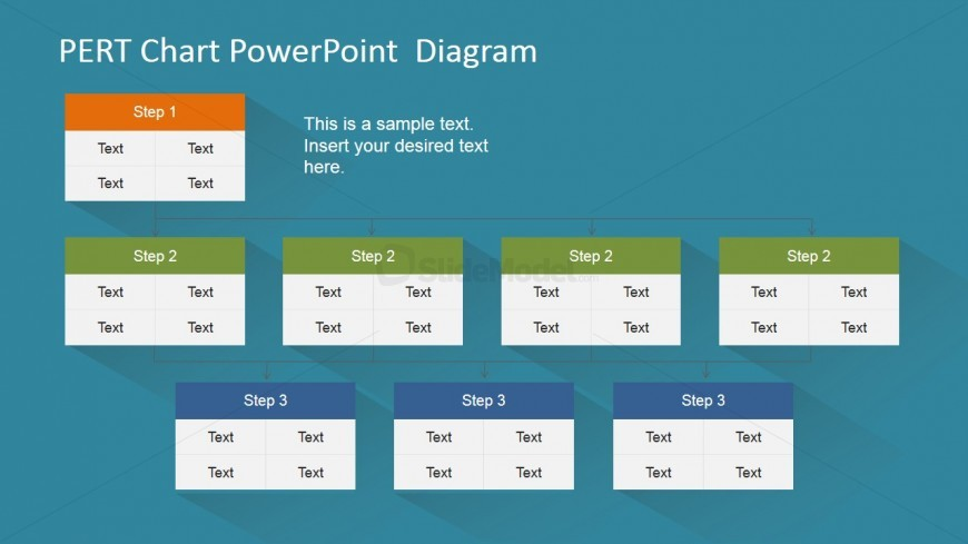 PERT Chart Diagram in PowerPoint