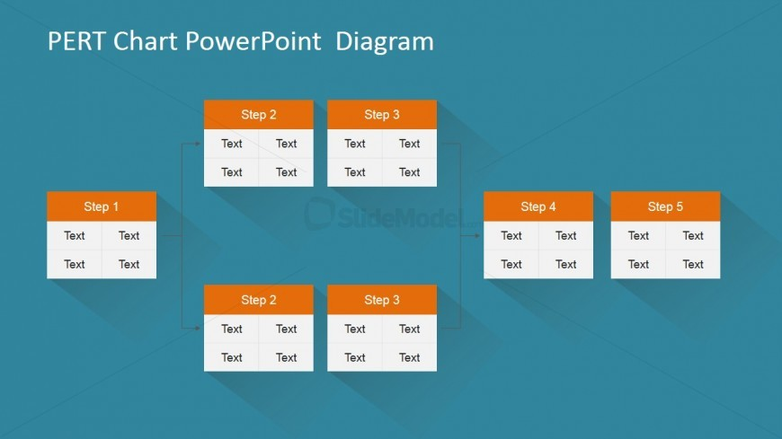 PowerPoint PERT Chart Fork and Join