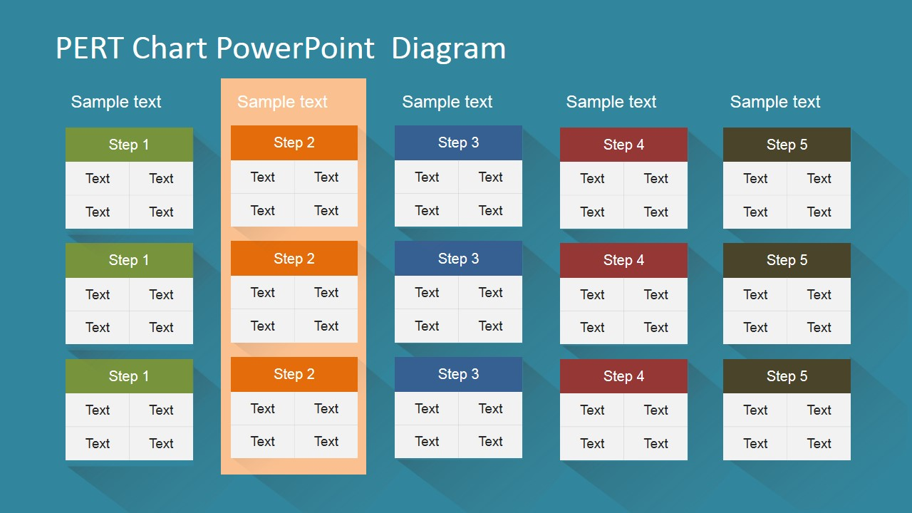 Pert chart powerpoint diagram slidemodel powerpoint pert chart with highlight ccuart Gallery