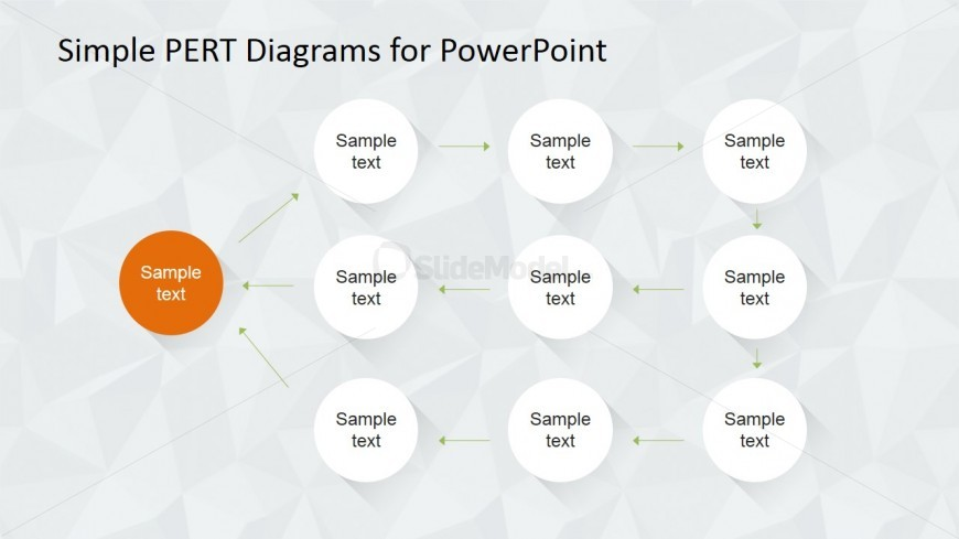 Easy to Use PERT Diagram Template
