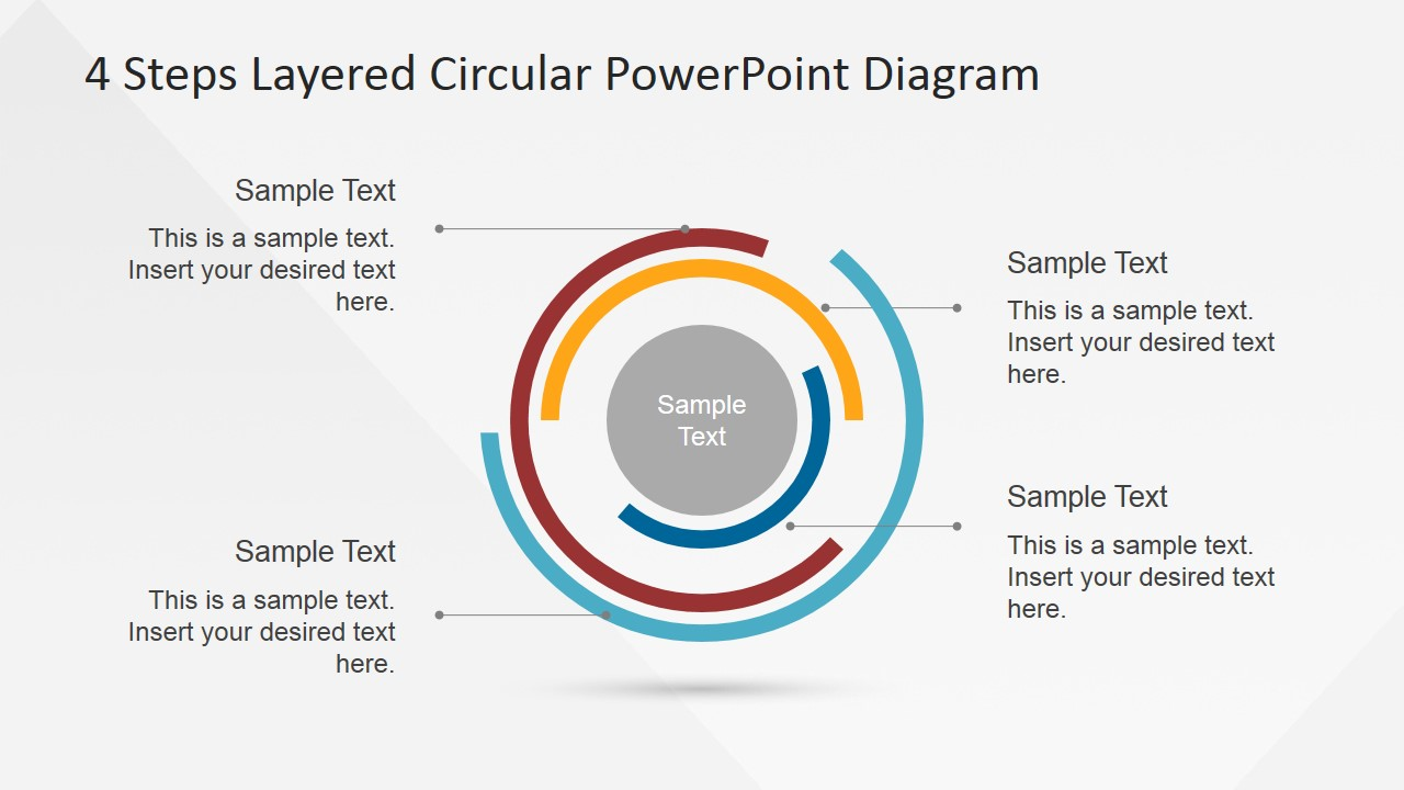 PowerPoint Diagram of Concentric Flat Layers