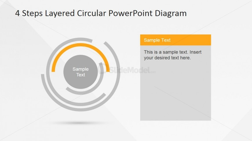 Second Inner Layer Highlighted in 4 Steps PowerPoint Diagram