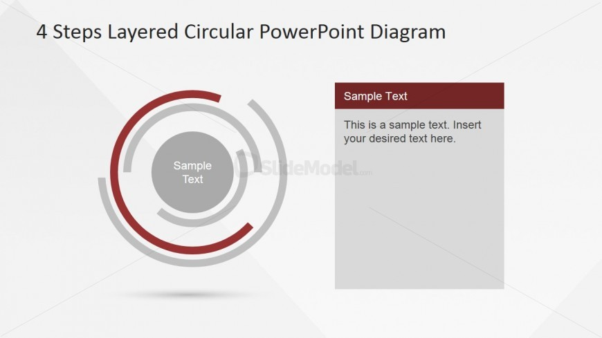 Third Step Highlighted of Circular Layered PowerPoint Diagram