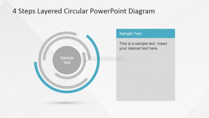 Surface Layer Highlight Circular Concentric Diagram Slidemodel