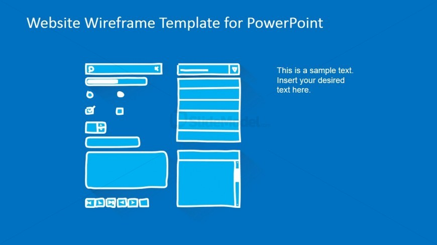 PowerPoint Website Wireframe Elements