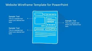 PowerPoint Slide Design for Product Description Webpage