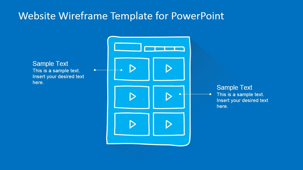 webpage wireframe template