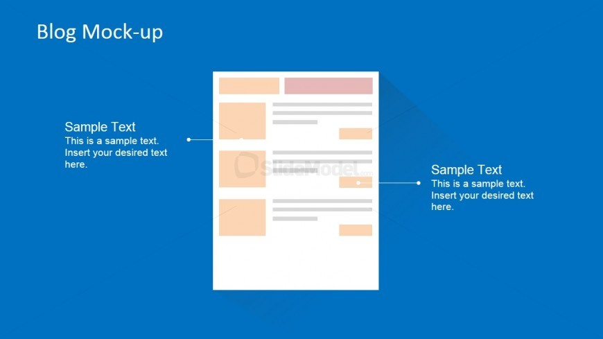 Blog Page Wireframe Layout For PowerPoint
