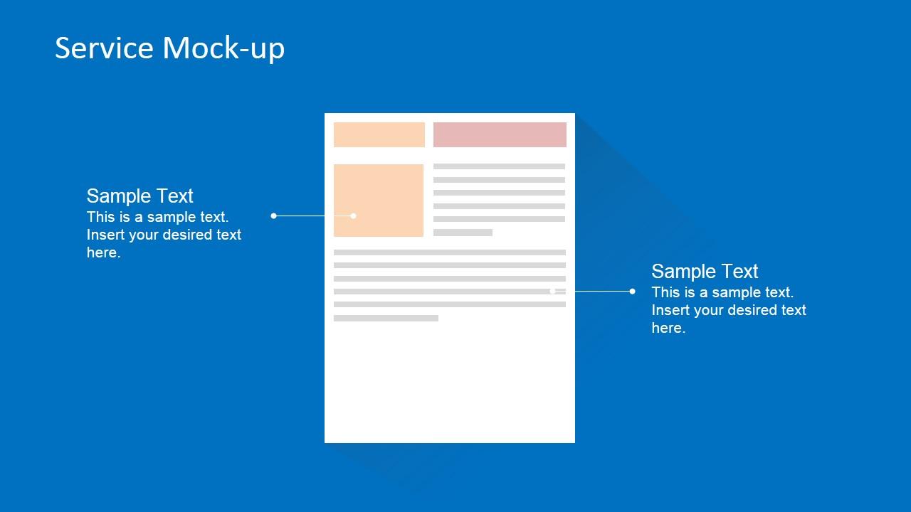 Ecommerce Service Landing Page PowerPoint Mock-up - SlideModel