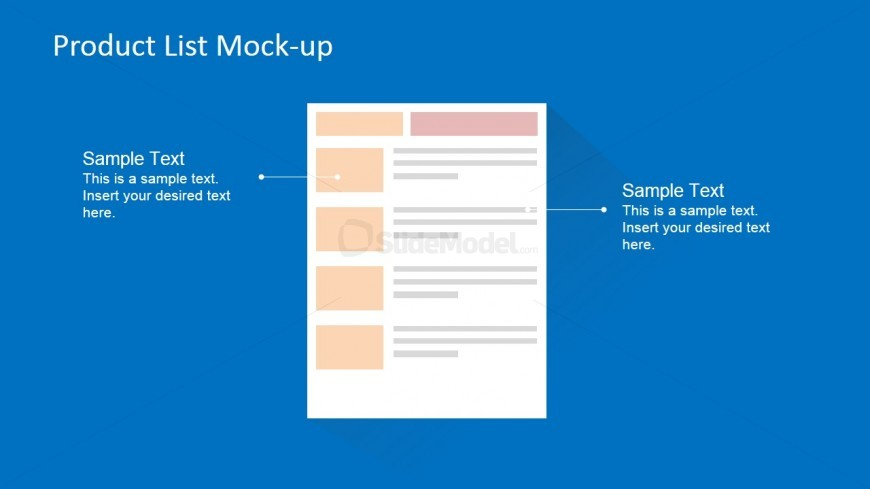 PowerPoint Slide  Product List Mock-up