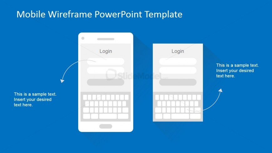 PowerPoint Mobile Wireframe Login Use Case