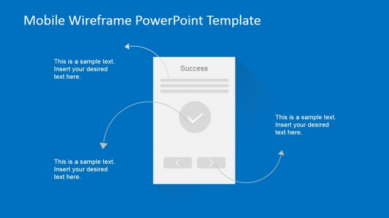 Success Mobile Screen Wireframe PowerPoint Design