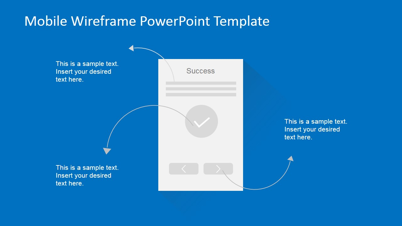 powerpoint wireframe template for ui design - mobile wireframe powerpoint template slidemodel