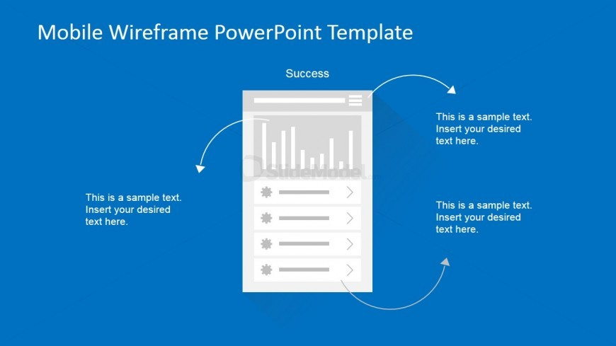 PowerPoint Mobile Wireframe Dashboard Screen